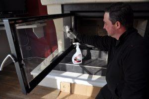 remplacement de vitre d'insert à Gennes
